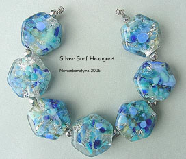Silver Surf Hexagons